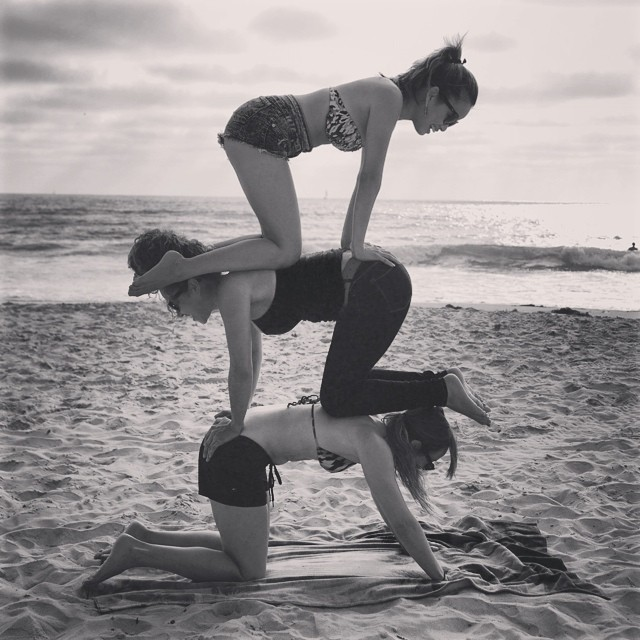 Stacked- always got each other's backs w/ @smmeneses @ajjones408 #acroyoga #123 #instagood #michicas