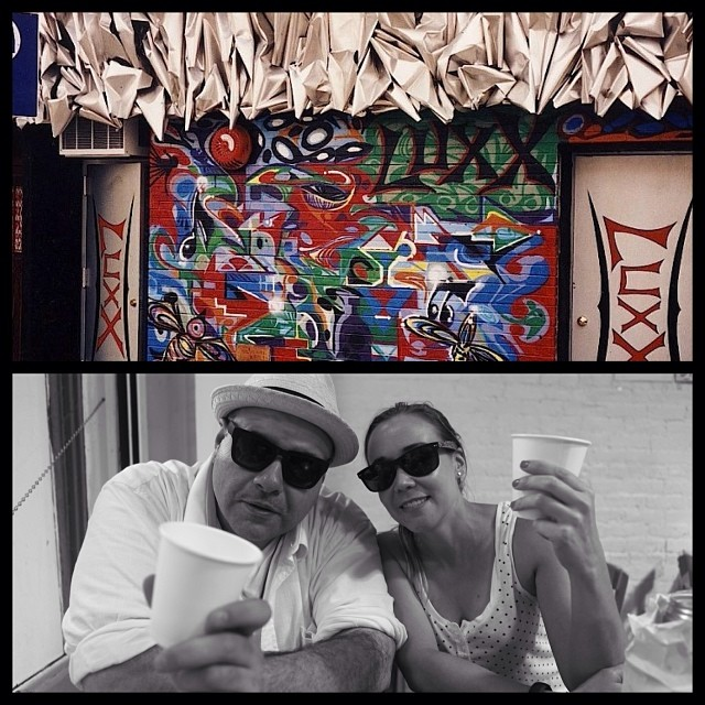 Seeking the Sequence, oiste?! #tbt Top: LUXX night club Brooklyn / #marsartist sculpture & #chrisMendoza graf | Bottom: Rayban Artists reppin' NYC/Cali