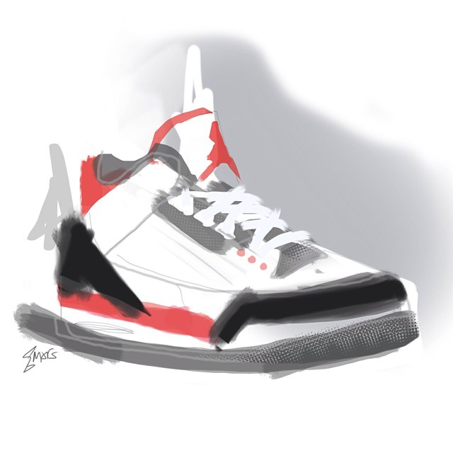 Fire Red Jordan  Digital Painting #marsartist   Soon to be available for purchase. Will keep you updated! ✌️😎
