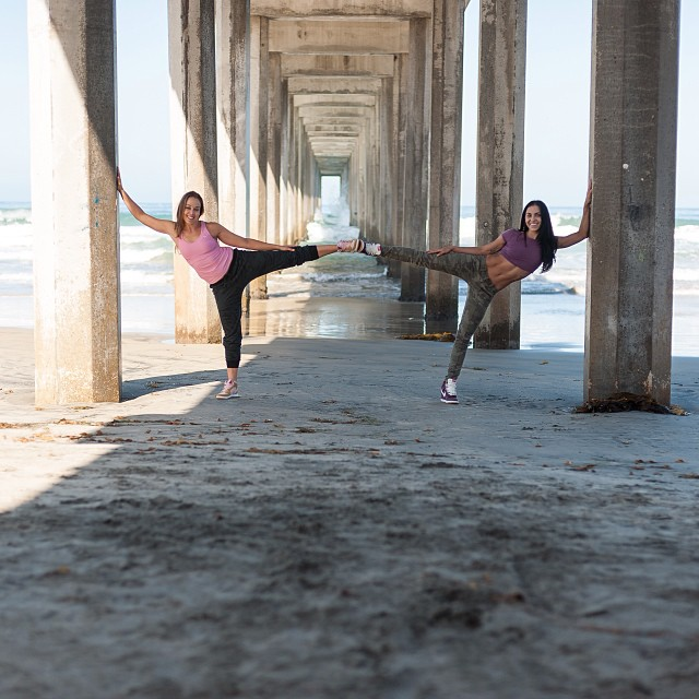 #STAYKICKED my sidekick @aubrymarie and I at the pier ✨ #nikeskyhighs #harejordan    Photo by @gregstaytrue