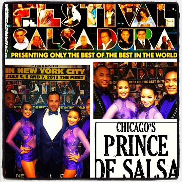"Salsa Dura Festival #NYC w/ director @andylyrikcruz and our performance team ""A Time to Mambo"" @smmeneses @odmeneses"