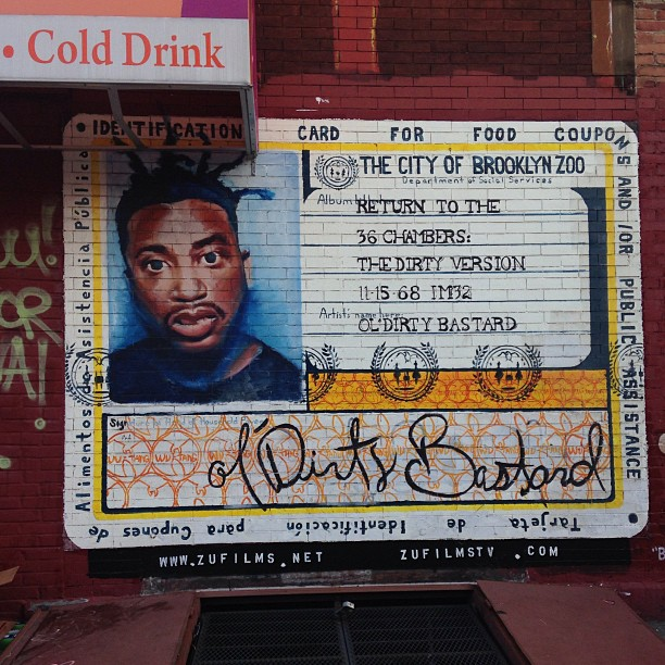 Ol' Dirty R.I.P.  #Putnam & #Franklin Brooklyn rooftop party w/ @still1 & @paisa_oner deli stop #brooklyn son!!✌👊