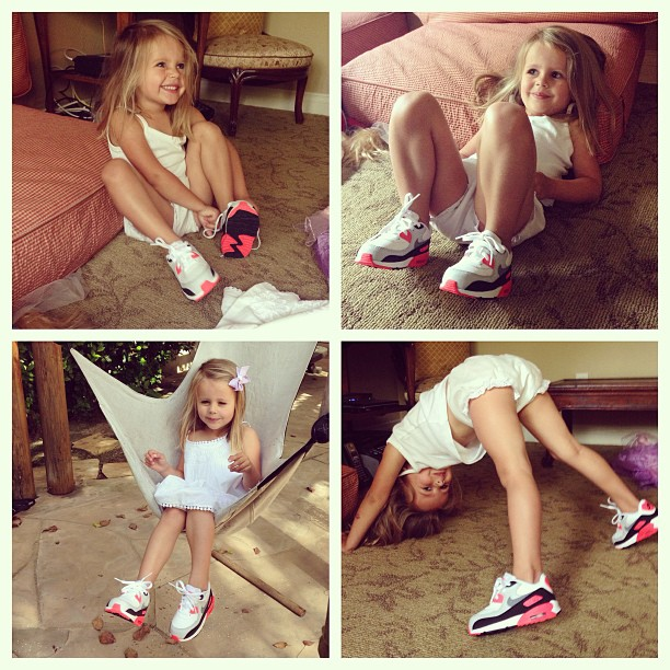 Gave my niece her first pair of #nikes #AirMax ✨   She wore them all day til she had to take them off ☺️ I told her that she would runner faster and jumped higher, at first she didn't believe me.. But she did later 😂😘 luv my niece💗    Til u grow up little one.. u can be on @missfitkicks one day☀️💗☺️ {will eventually be moving to this acct @missfitkicks, so stay following homies✌️✨}