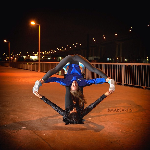 Night Symmetry w/ @aubrymarie 🌙🔺🔻 Unity is strength… When there is teamwork and collaboration, wonderful things can be achieved✨ Blue Track jacket by @origprop many thanks 🙏 {Easter KD's} [photo by @mehlitron]