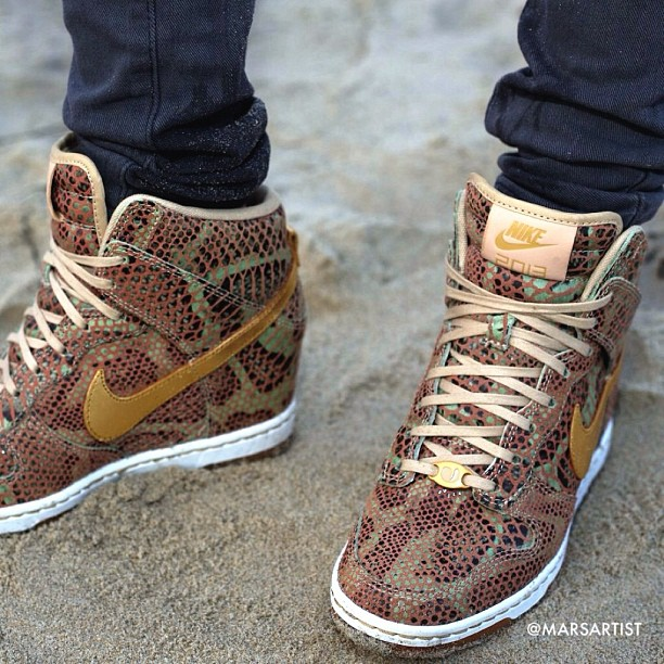 Year of the Snake 🐍 2013 ✨photo by @aubrymarie #yots ✨ {WMNS Dunk Sky High Golden Python}