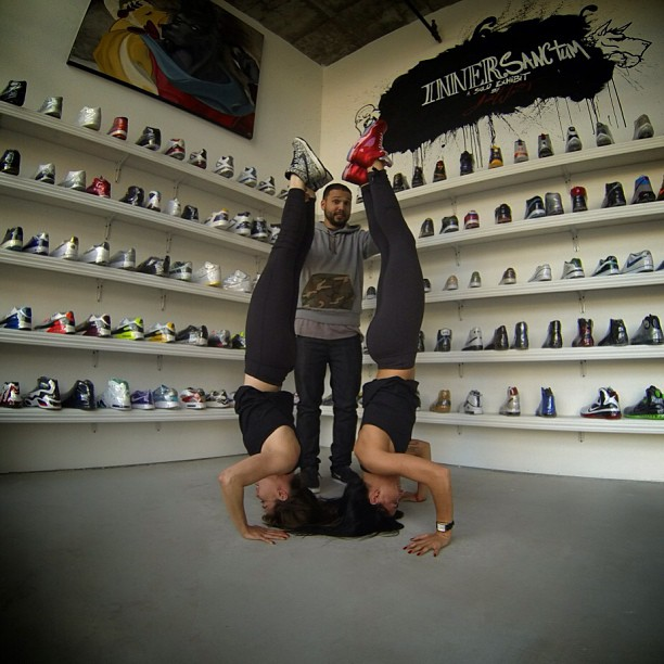 @aubrymarie & I kicking our feet up in Rosewood w/  Dante the founder of @rswdsd {Jordan Retro 5s, Amor Dunks}