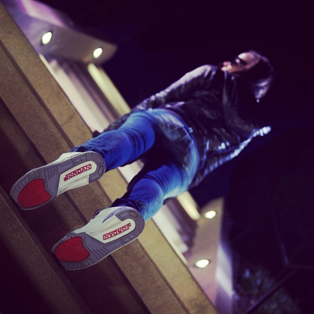 Flip side #trueblues #jordans from underneath  #niteshoot w/ @aubrymarie