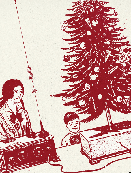 Christmas Baubles     Gig poster design for Kid Canaveral