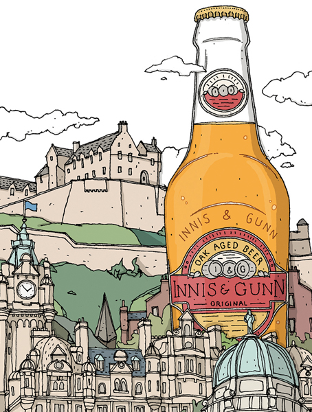 Innis & Gunn    An Edinburgh Cityscape.