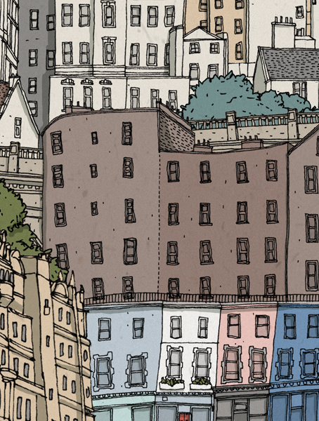 Edinburgh     Cityscape Illustration.