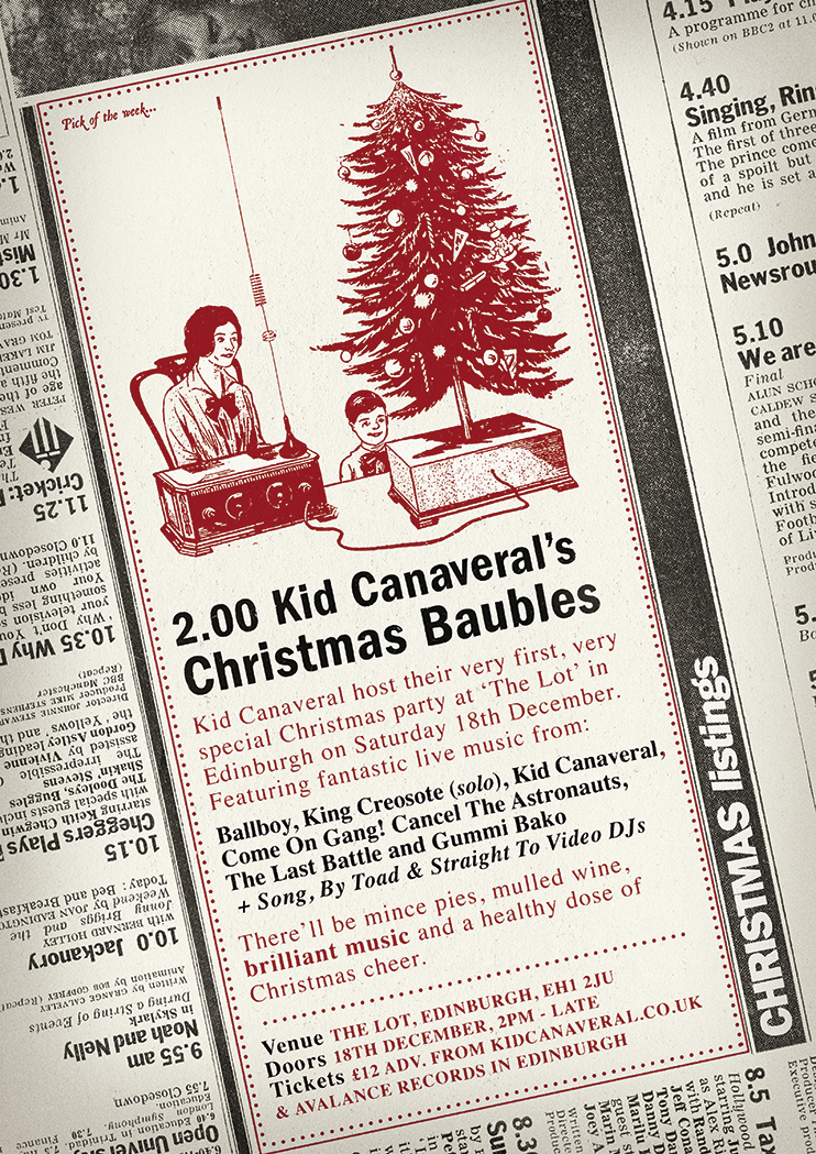 Kid Canaveral's Christmas Baubles Poster