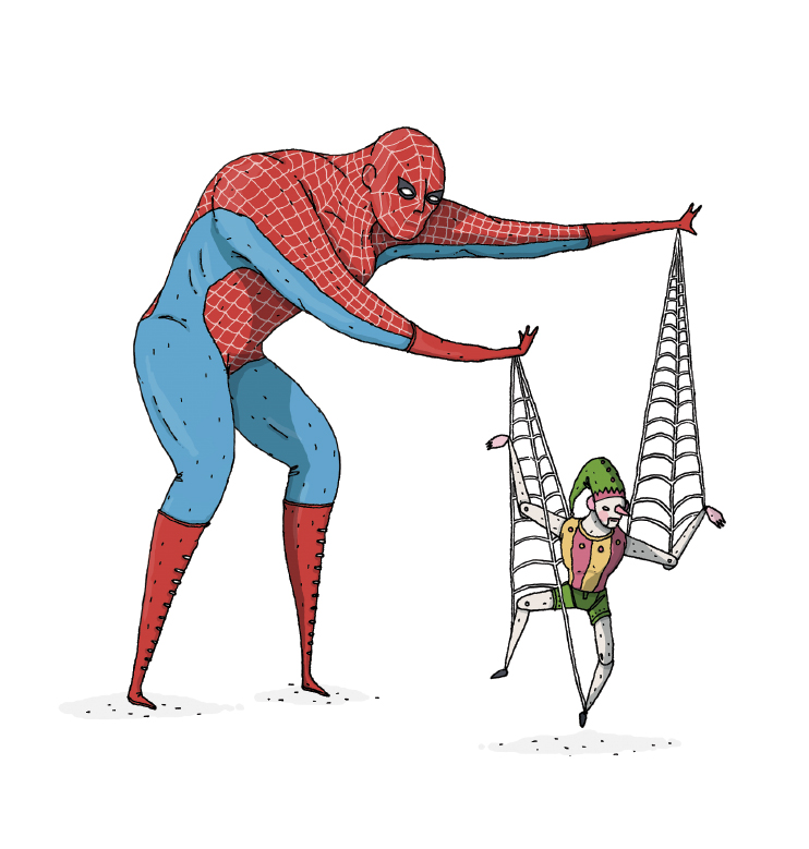 Wired Illustration: Spideman