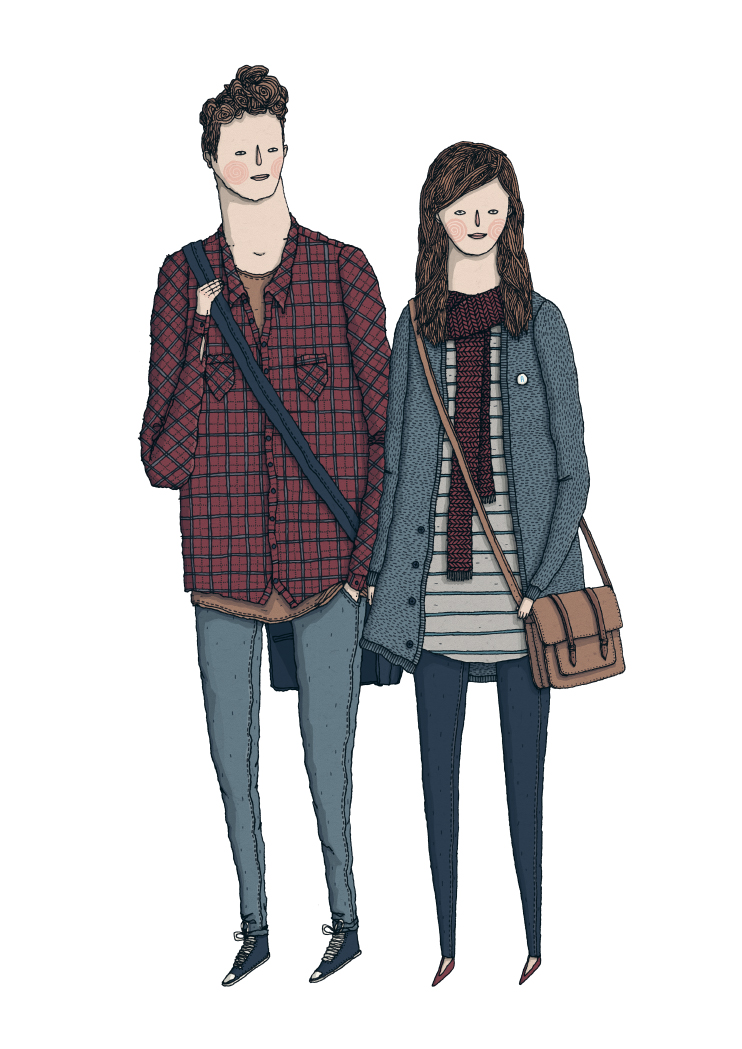 Students drawn for The List's annual Student Guide edition.