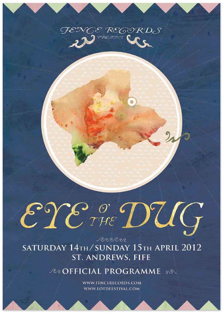 Eye O' The Dug programme     Artwork by  Peanut Snake .