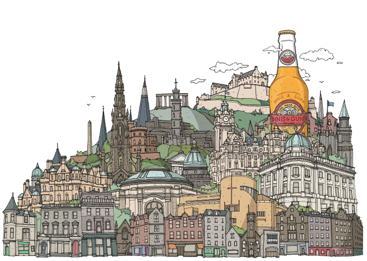 Innis & Gunn Illustration: Edinburgh Cityscape