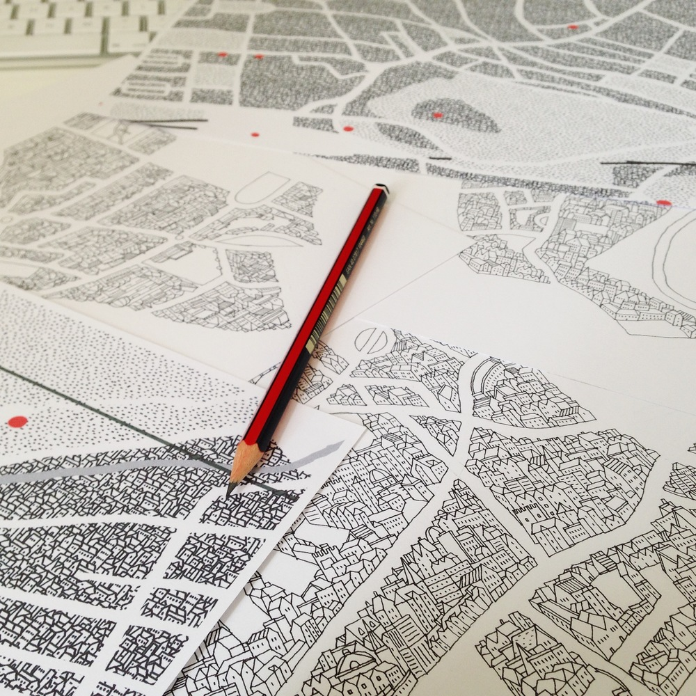 Edinburgh map drawing work in progress