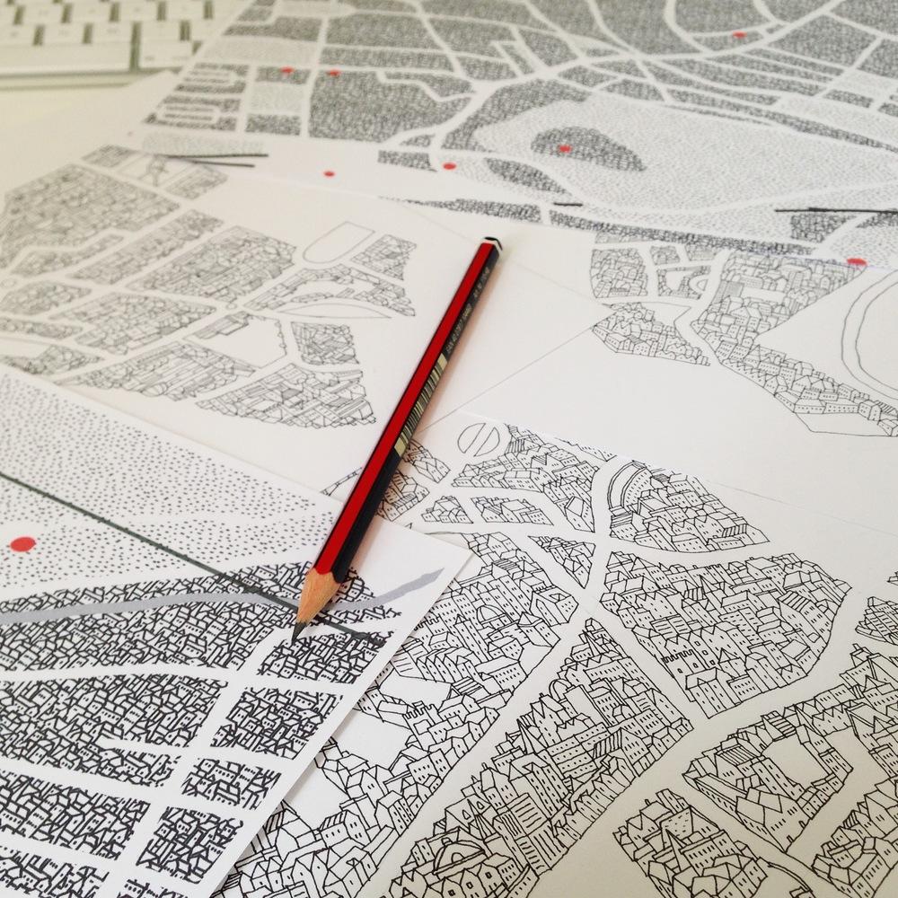 Edinburgh map drawing work in progress