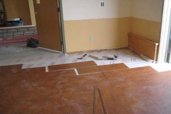 Flooring installation handy helper group for Cork linoleum