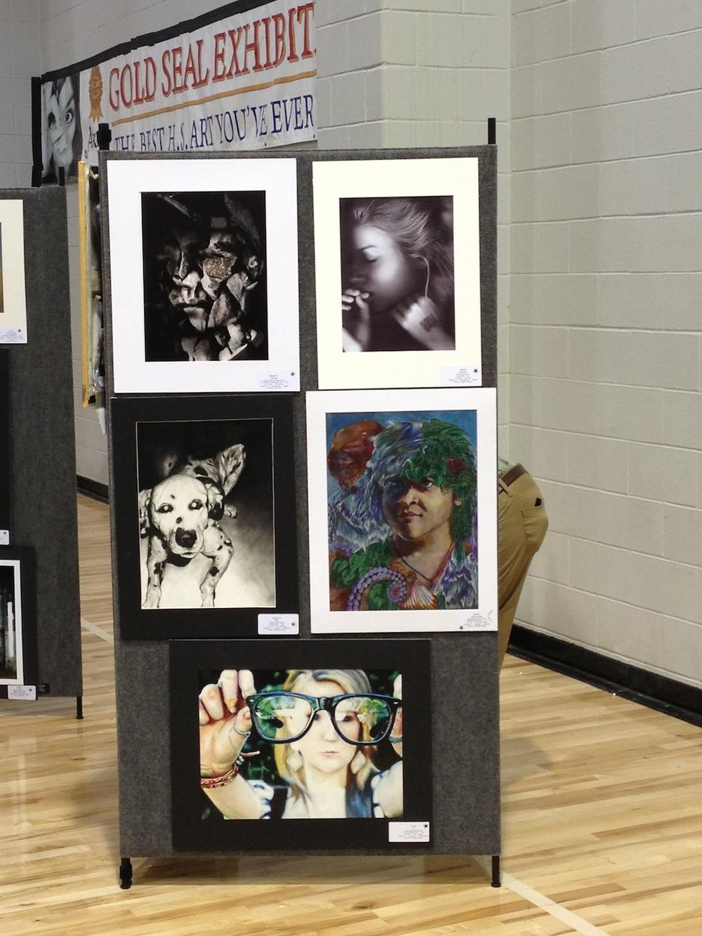 Amber Hernandez's Art Work on Display