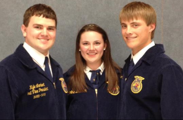 (Left to Right) Kyle Lambert, Caroline Brennan, Stephen May