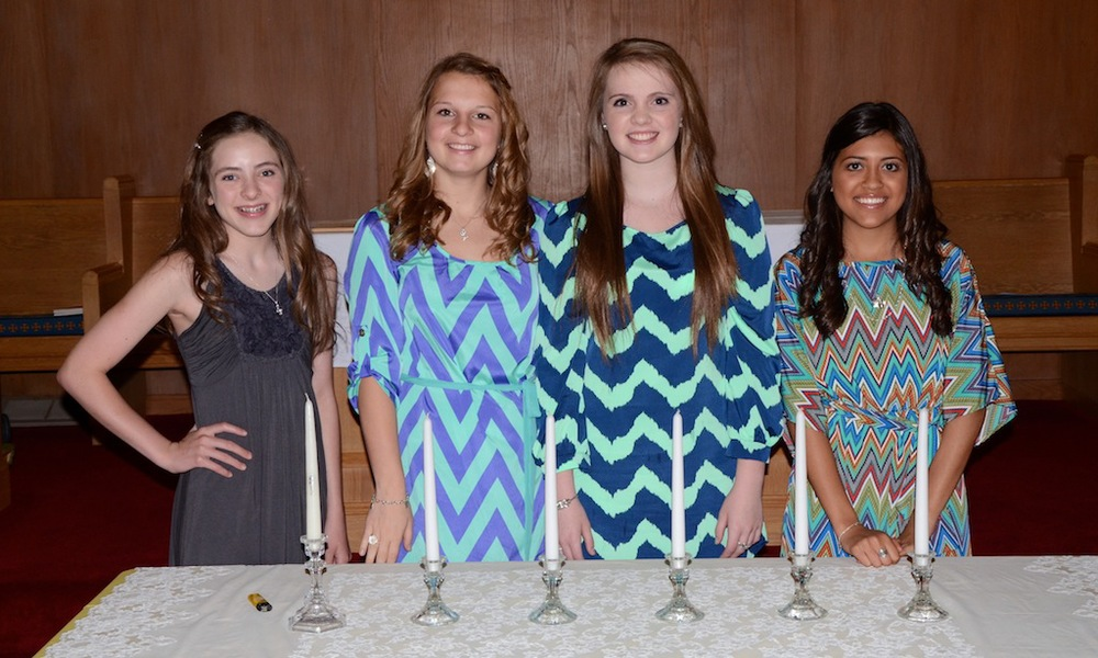 NJHS Officers serving from 2012-13 in left to right order:  President-Christa Martin, Vice President-Lauren Jones, Secretary-Kaitlyn Foster, and Treasurer-Brooke Hefner   NJHS is sponsored by Irene Armstrong and Judith Kitchens.