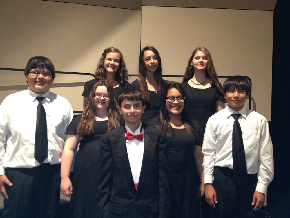 Congratulations to the SHS & SMS students who made the TMEA South Zone Honor Choir and performed in the Concert on Saturday, November 2 in Clyde, TX. Pictured are: From SMS: Emma Foust, Megan Dean, Anastasia White, Max Rodriguez, Lauren Browning, Aubrey Delacruz, & Taiden Smith; From SHS: Martin Morini.