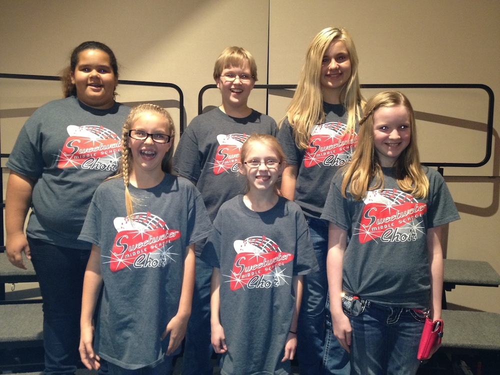 Congratulations to the students from SMS who auditioned and made the 6th Grade Honor Choir. These students performed in a concert on Saturday, November 2 in Clyde, TX. Pictured is: Mikayla Vanderpool, Jacob Carter, Kolbi Turner, Zoe Hunt, Miranda Sloan, and Katie Tyson.
