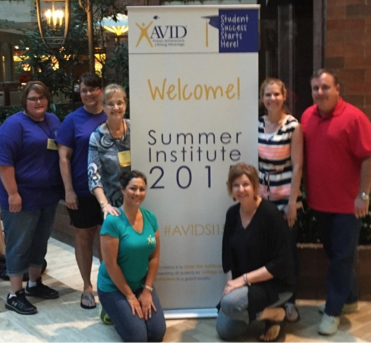 Sweetwater High School Staff Kristian Morris, Sherri Whittenburg, Rebecca Duncan, Tracy Pradon, Ruth Ann Campbell, Jearlyn Allen, and Ronald Morris attend the AVID Conference in Dallas, TX.