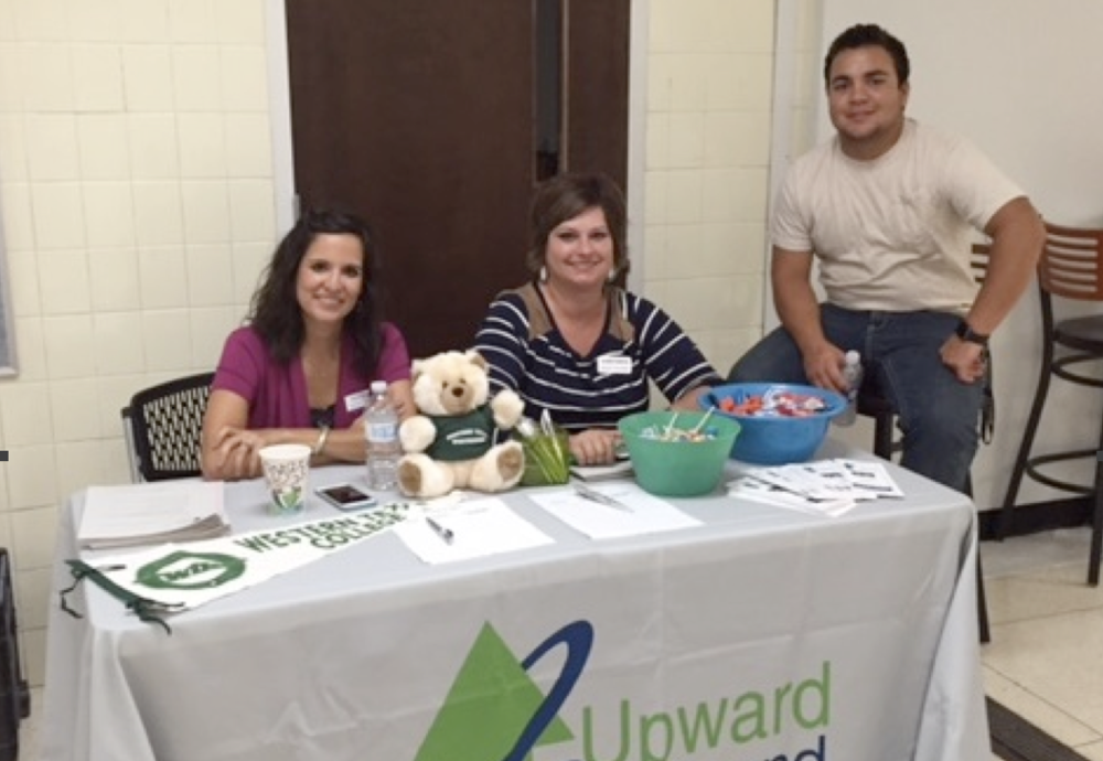 Western Texas College Upward Bound Administrators Tressa Stephens and Rachael Menix and 12th Grade SHS Student Junior Lawhon received more than 50 student request for Upward Bound during the 9th Grade Student Orientation Lunch last Thursday.