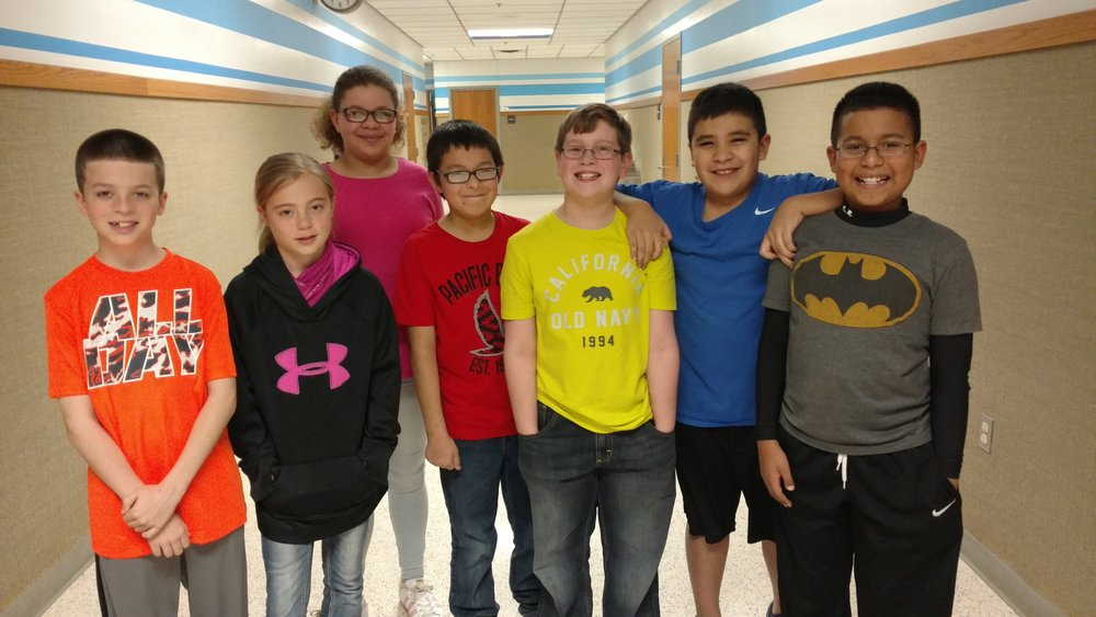5th Grade Engineering Team: (Left to Right) Kyler Toland, Makenzie Ince, Sadie Gates, Jordan Rodriquez, Jaden Doggett, Michael Rogers, and Ian Cortez