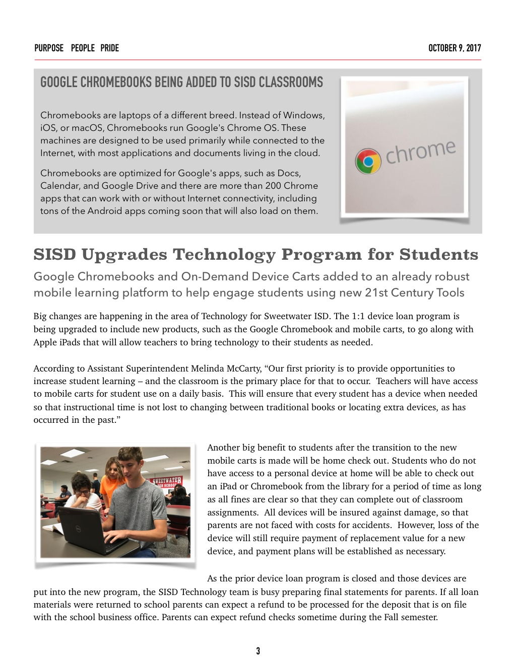 sweetwater isd s october newsletter now available online to read