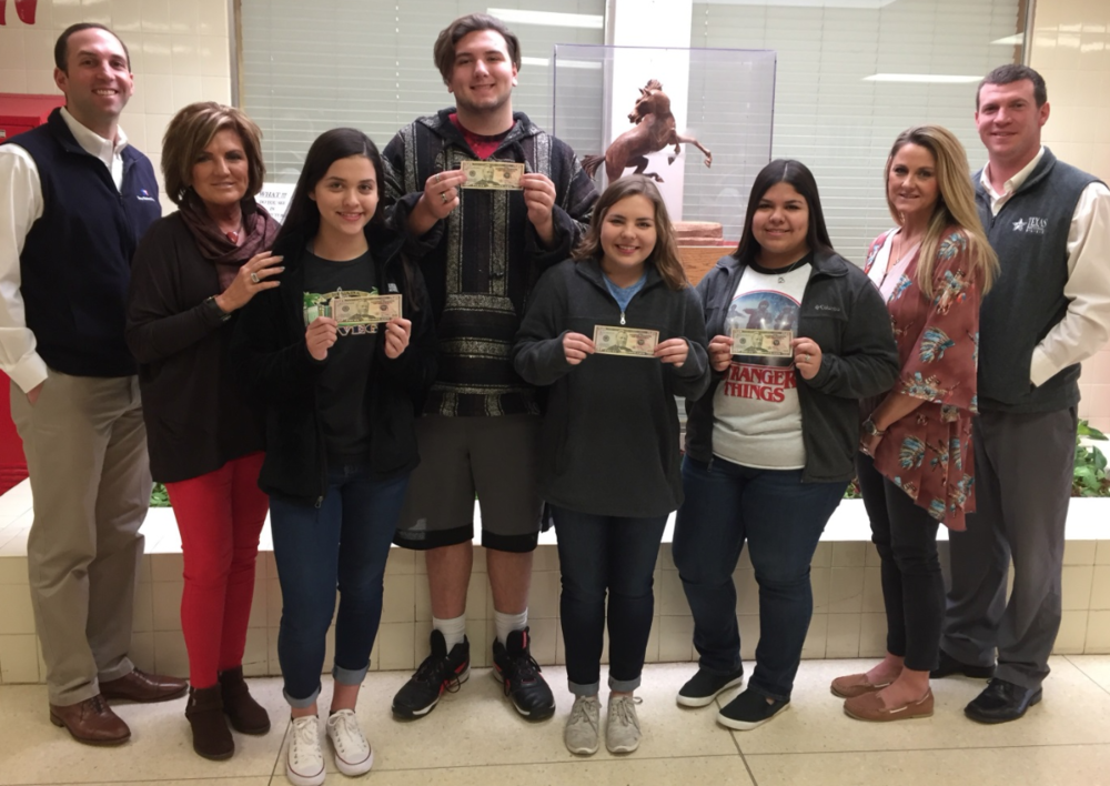 Pictured (L to R): Mike Fernandez, Kathy Smartt, Jacqueline Arellano, Luke Berry, Kara Lehnert, Lauren Rodriguez, Tecka Mobley, and Chris Bibb