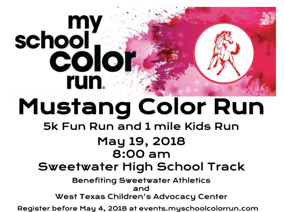 Mustang Color Run Set for May 19, 2018 at the Sweetwater High Track ...