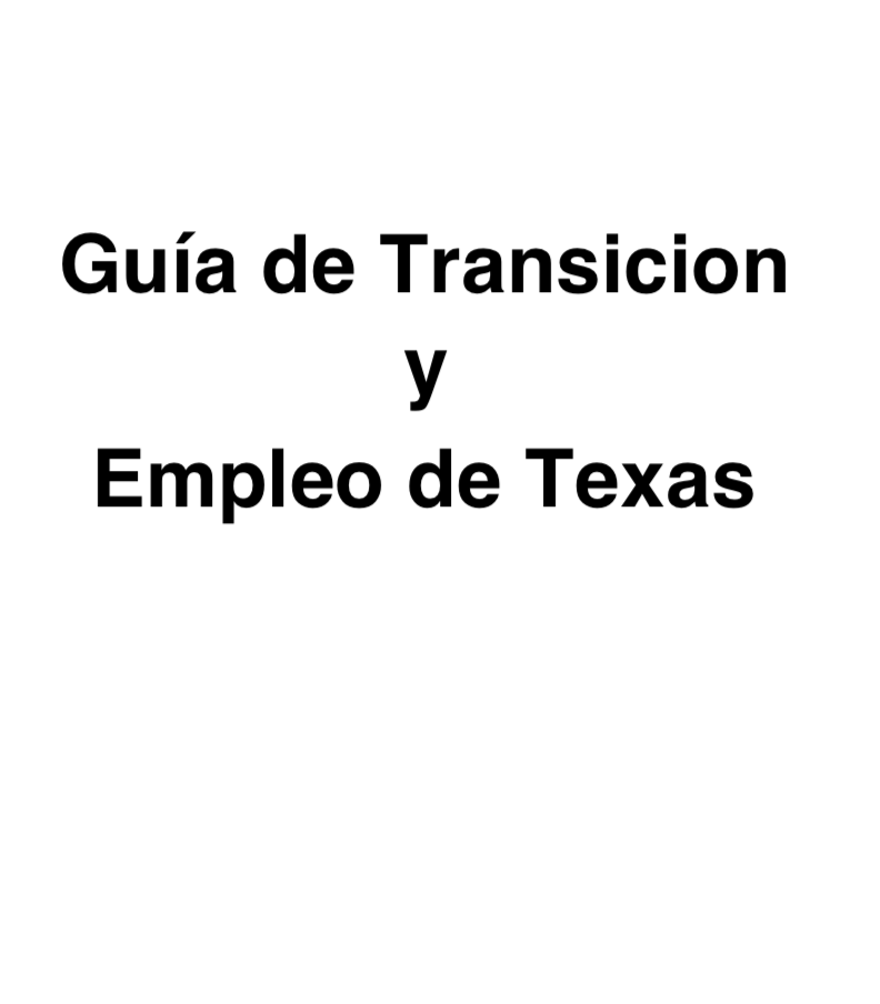 Link to Texas Transition and Employment Guide Spanish Version PDF