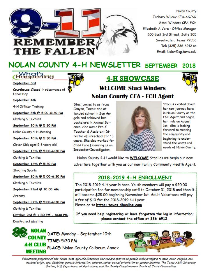 Nolan County 4-H Newsletter - September 2018.png