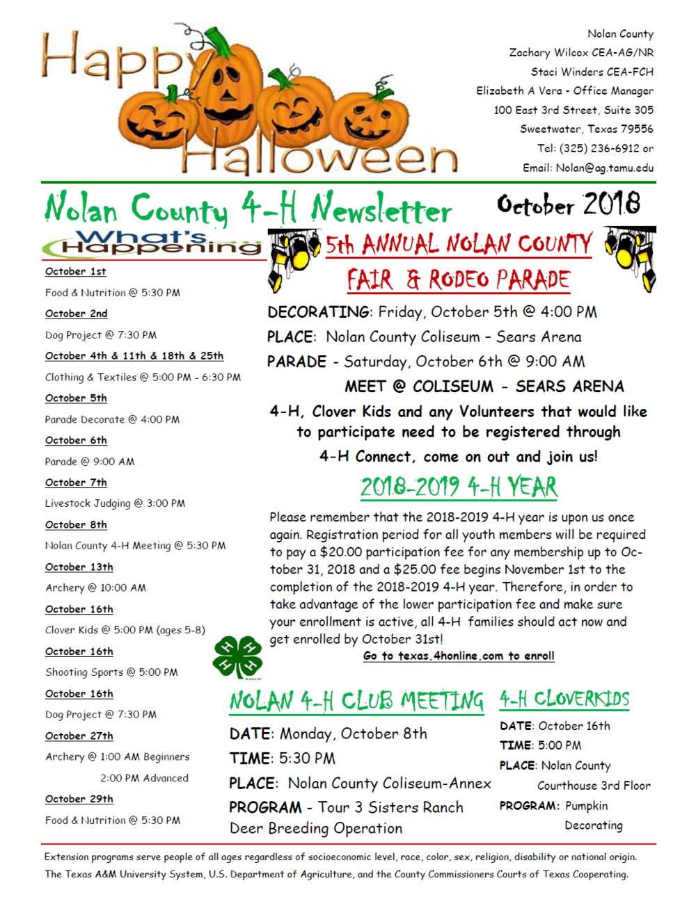 Nolan County 4-H Newsletter October 2018 P1.png