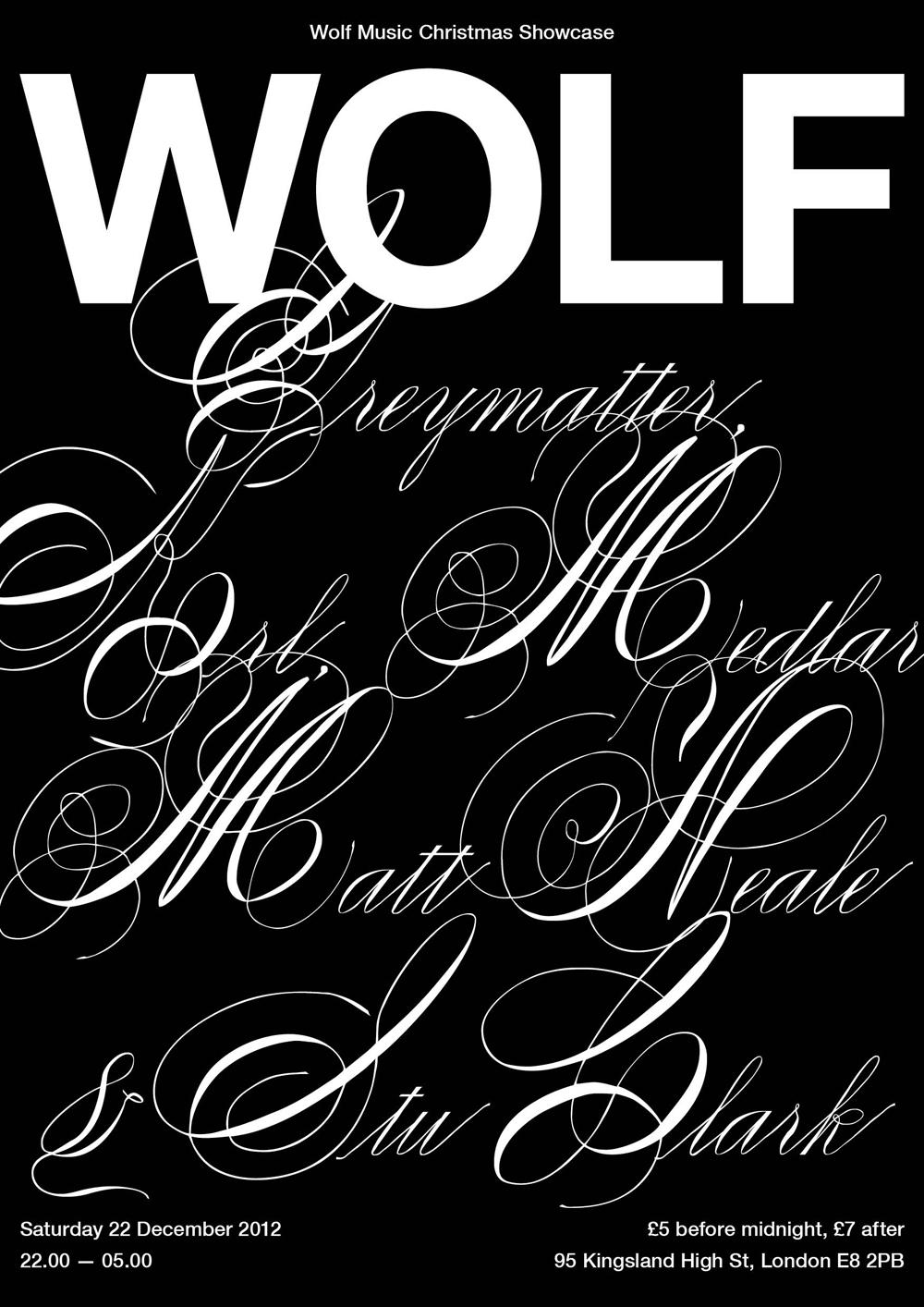 WOLF XMAS SHOWCASE. 22.12.12