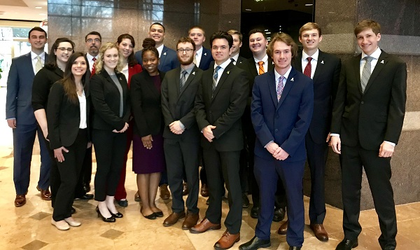 Students from AppState who participated in the Spring 2019 RIMS Shadow Day