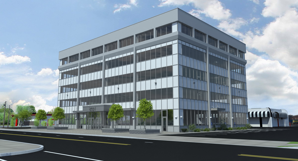 Proposed Office Building Facade Renovation - Day