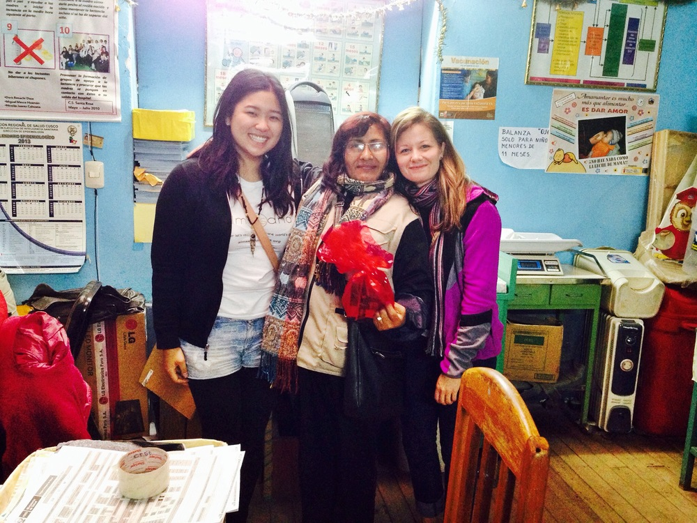 Our two Santa Rosa fall interns with a vaccination nurse. Photo taken: Dec. 3.