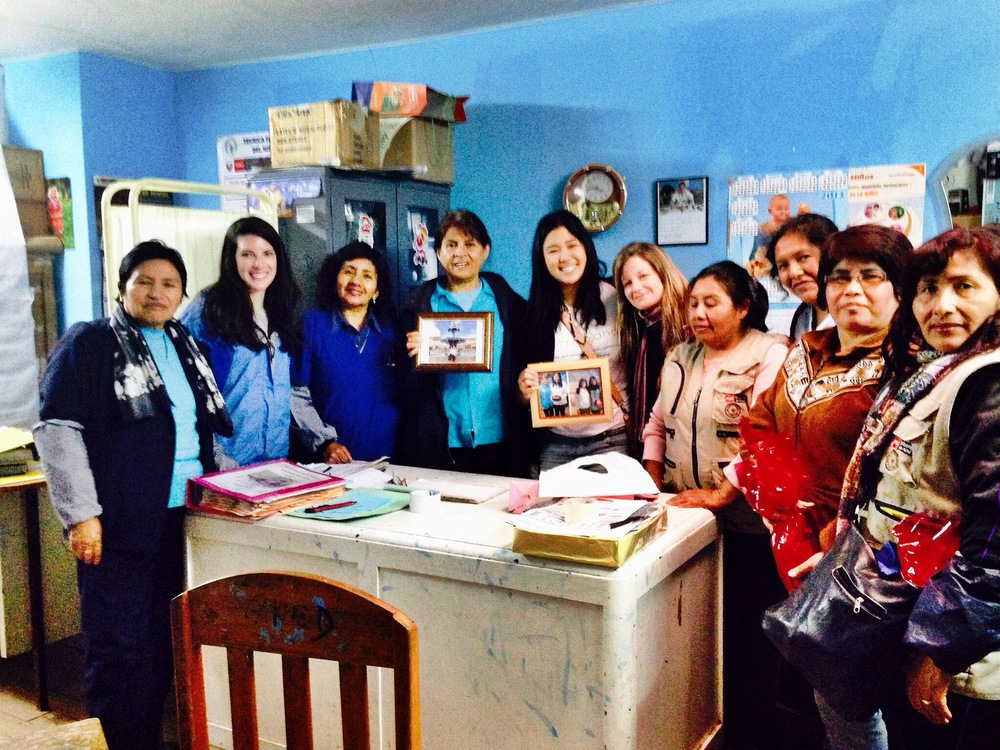 All the Santa Rosa nurses we worked with and our Santa Rosa team with the gifts! Photo taken: Dec. 3.