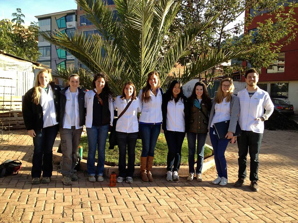Our fantastic summer interns ready for Day 1 of our Peru study! From left to right: Amy Scheel, Jenny Nepom, our Peru Project Coordinator, Vanessa Rivera, Dani Corona, Jenny Poliwka, Joanie Kim, Lauren Braun, our founder, Anca Dogariou,  and Alex Bozzette, our Ecuador Project Coordinator. Photo taken: June 1, 2013.