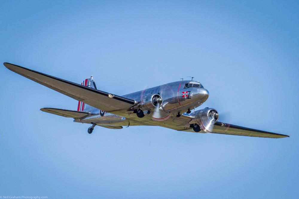 C-53D Dakota. To view more Duxford Flying Legends Airshow photographs click on the photo.