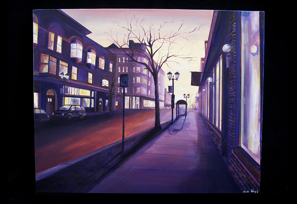"Cathedral Hill   acrylic on canvas  2012  24"" x 30"""