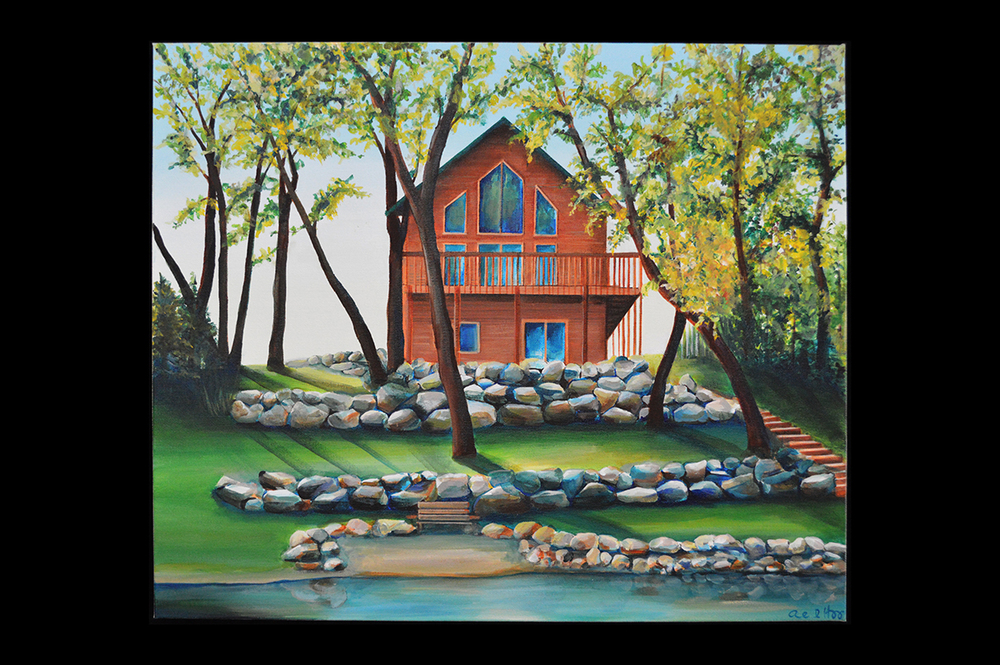 "Our Cabin   acrylic on canvas  2013  18"" x 24"""