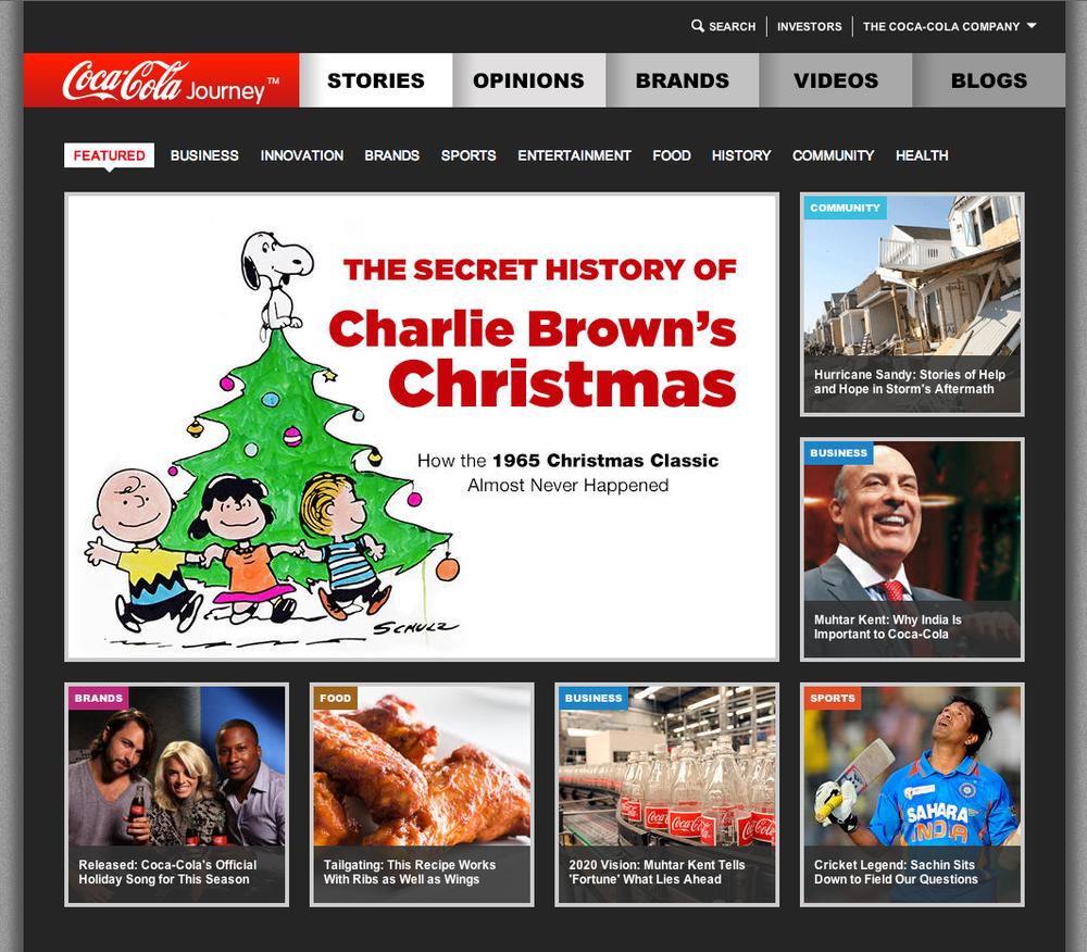 Coke's new website