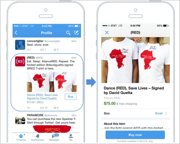 "Twitter's ""Buy"" feature"