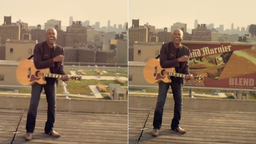 "A before-after view of darius rucker's ""true believers"" video, courtesy of rolling stone"