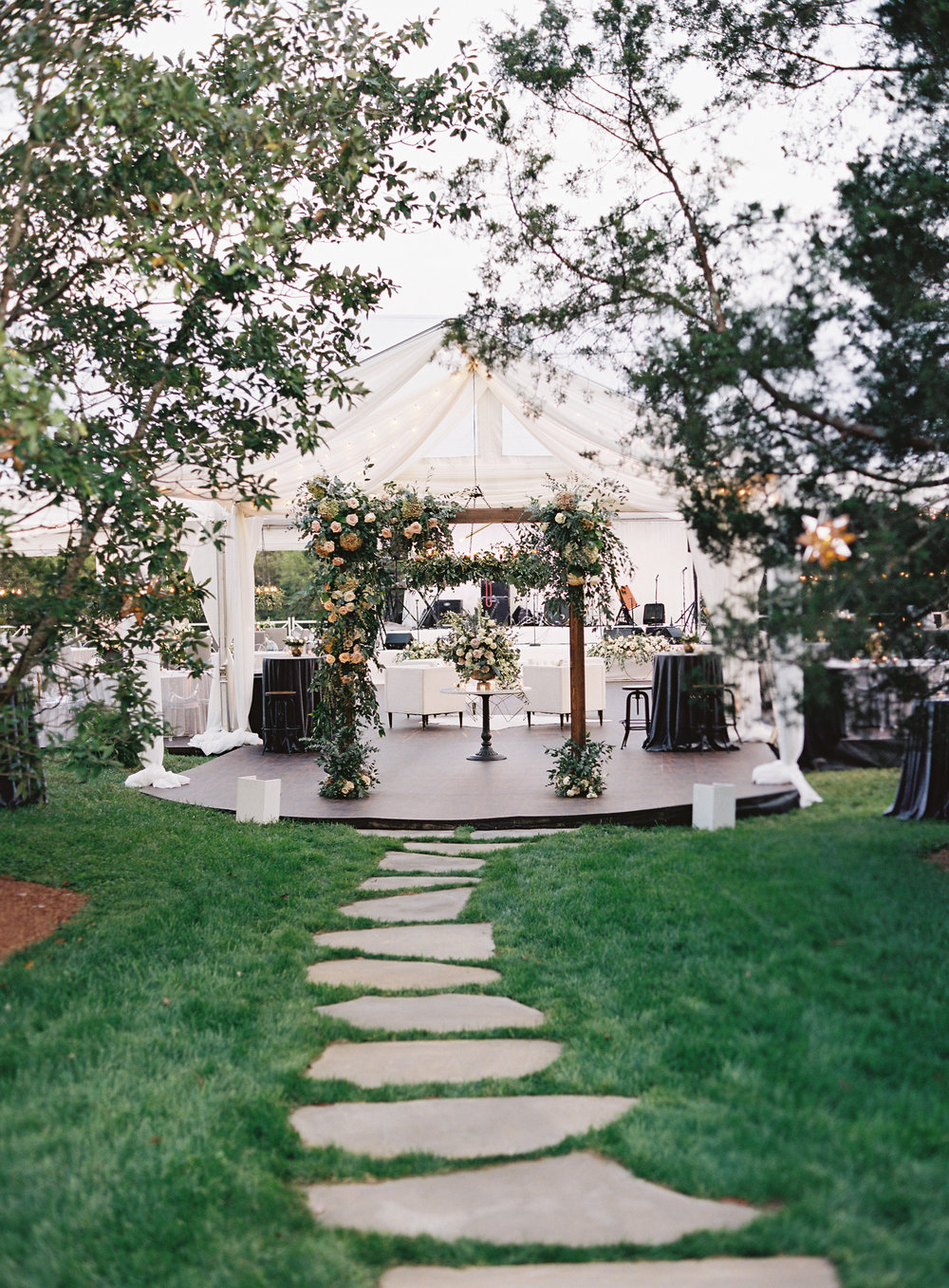 Caroline & Derek's wedding was planned and designed by Big Events Wedding in Nashville, TN. Here the gazebo they got married under is pictured.