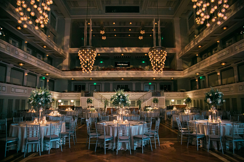The Schermerhorn Symphony Center just before the Brown Wedding Reception in Nashville, TN. Wedding planning & design by Big Events Wedding.